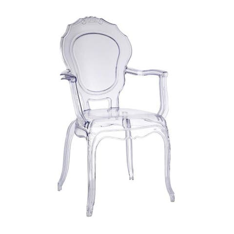 Transparent chair, Made of polycarbonate, Stackable.