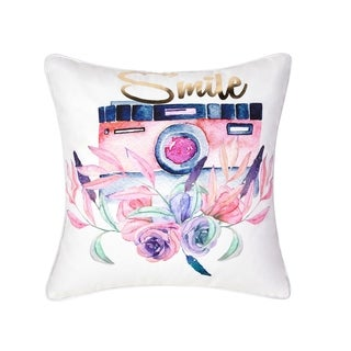 VCNY Home Pink Florals Smile Decorative Pillow