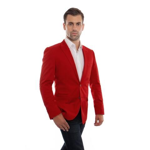 Mens Jacket Slim Fit Peak Lapel Solid Stylish Mens Blazer Jackets