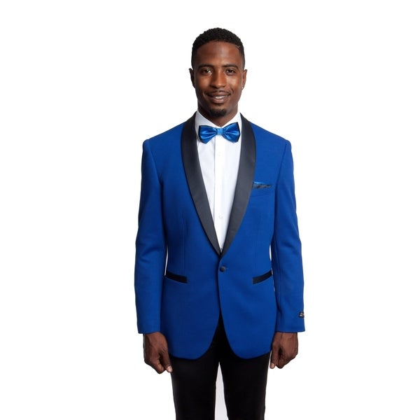 Mens Jacket Satin Shawl Collar Slim Fit Stylish Mens Blazer Jackets by  Great price