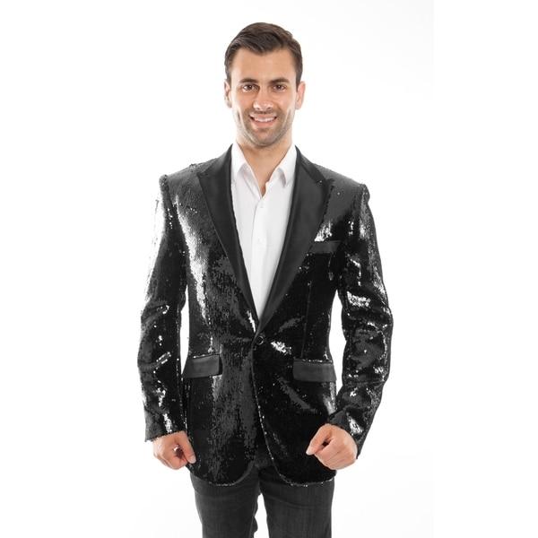 Designer Jacket Sequin Satin Peak Slim Fit Stylish Blazer Jackets