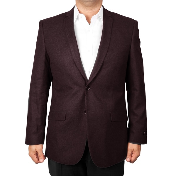 Mens Jacket Wool Touch Modern Fit Notch Stylish Blazer Jackets