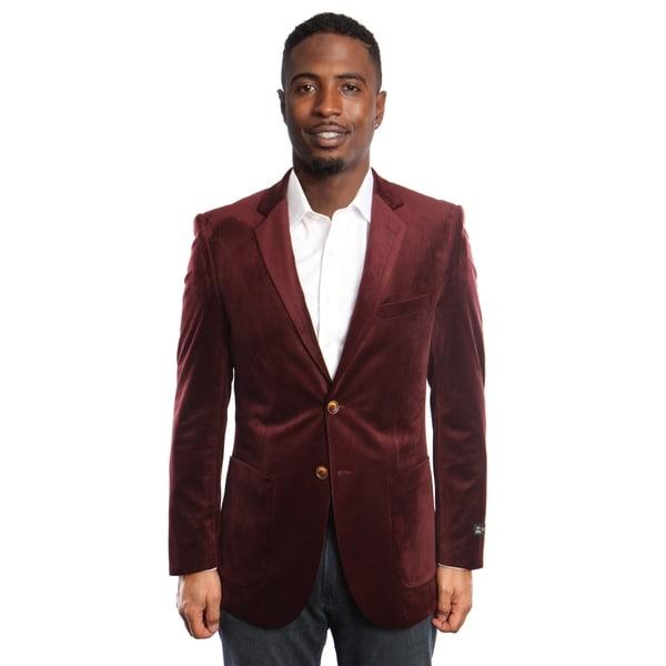 Mens Jacket Velvet Slim Fit Notch Lapel Stylish Blazer Jackets by  Today Only Sale