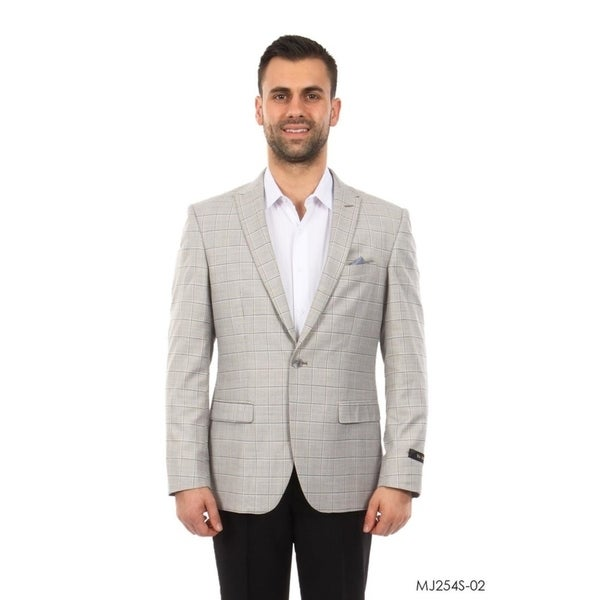Designer Jacket Windowpane Slim Fit Mens Stylish Blazer Jackets