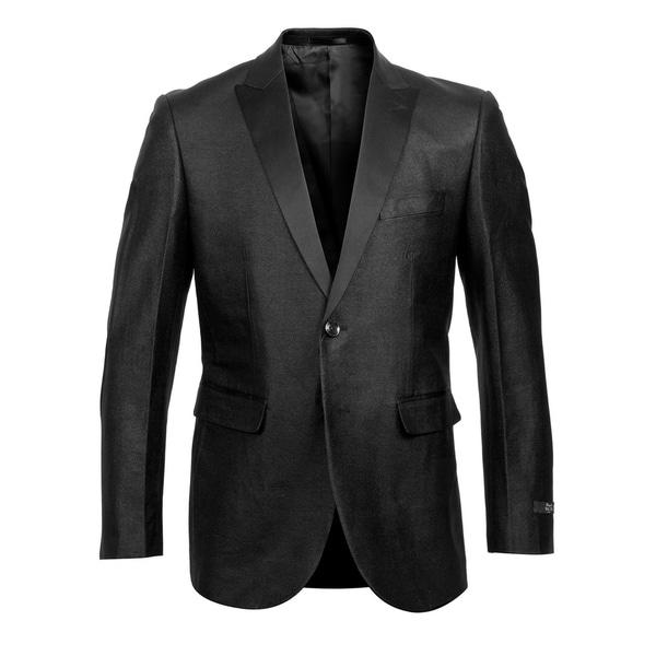 Mens Blazer Fashion Jacket Modern Fit Satin Peak Blazer Jackets by  Design