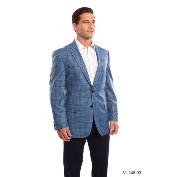 Mens Jacket Windowpane Modern Fit Stylish Mens Blazer Jackets by  Discount