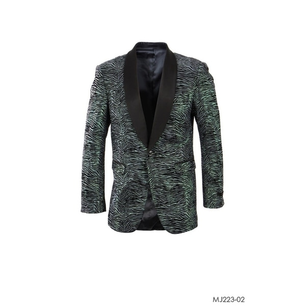 Designer Jacket Zebra Pattern Shawl Modern Stylish Blazer Jackets