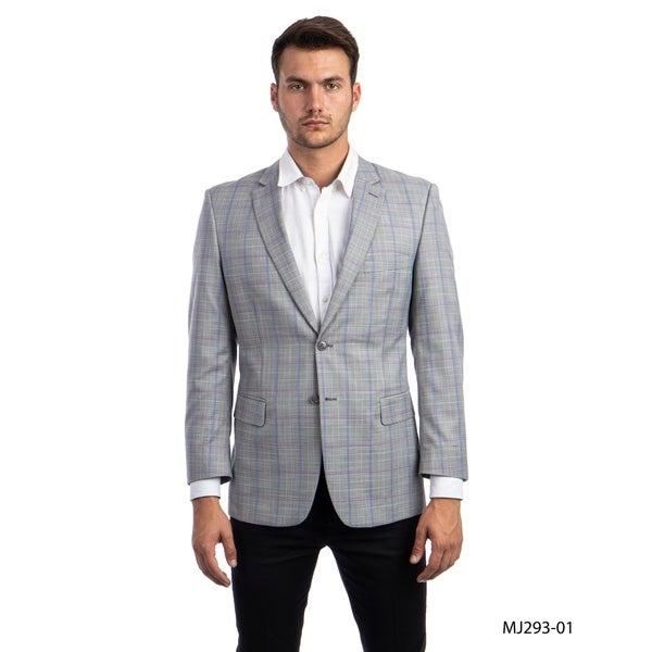 Designer Jacket Windowpane Modern Fit Notch Stylish Blazer Jackets