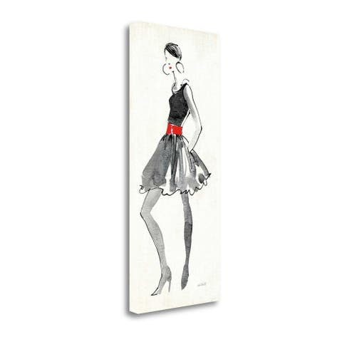"""""""Red Flair I"""" by Anne Tavoletti, Fine Art Giclee Print on Gallery Wrap Canvas, Ready to Hang"""
