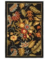 Safavieh Handmade Paradise Black Wool Rug - 1'8 x 2'6