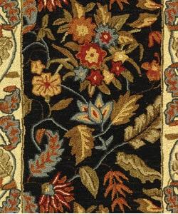 Safavieh Handmade Paradise Black Wool Runner (2'6 x 4')