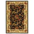 Safavieh Handmade Paradise Black Wool Rug - 3'9' x 5'9'