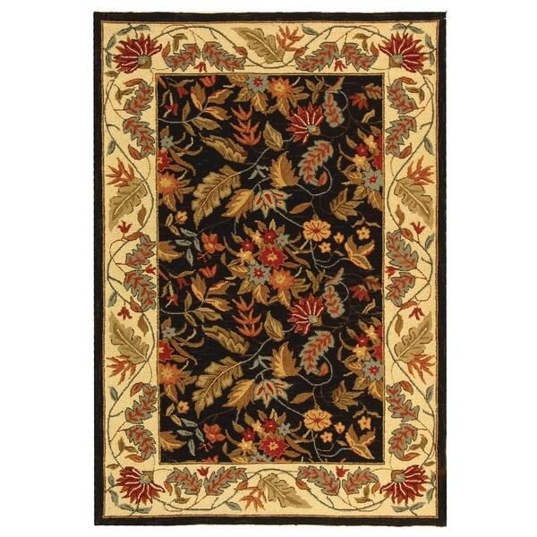 "Safavieh Handmade Paradise Black Wool Rug - 3'9"" x 5'9"""