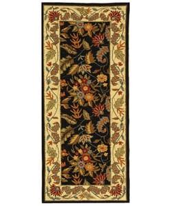Safavieh Handmade Paradise Black Wool Runner (2'6 x 6')