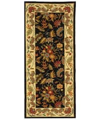 Safavieh Handmade Paradise Black Wool Runner - 2'6 x 6'