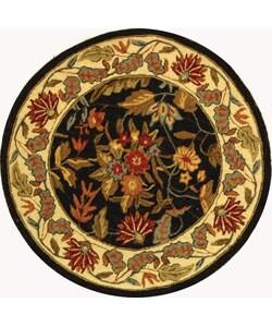 Safavieh Handmade Paradise Black Wool Rug (3' Round)