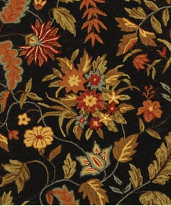 Safavieh Handmade Paradise Black Wool Rug (5'6 Round) - Thumbnail 1