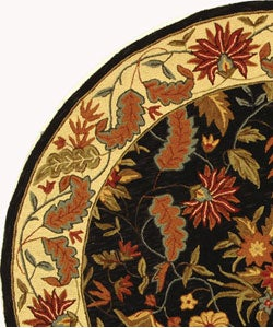 Safavieh Handmade Paradise Black Wool Rug (5'6 Round) - Thumbnail 2