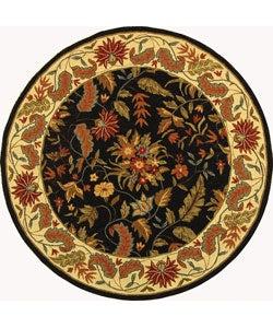 Safavieh Handmade Paradise Black Wool Rug (5'6 Round)