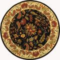 "Safavieh Handmade Paradise Black Wool Rug - 5'6"" x 5'6"" round"