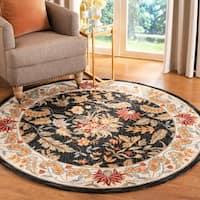 Safavieh Handmade Paradise Black Wool Rug - 8' x 8' Round
