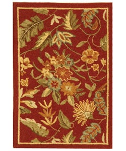 Safavieh Handmade Paradise Red Wool Rug (1'8 x 2'6)