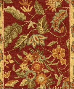 Safavieh Handmade Paradise Red Wool Runner (2'6 x 4')