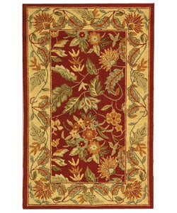 Safavieh Handmade Paradise Red Wool Runner (2'6 x 4')