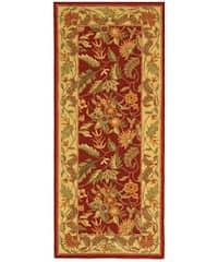 Safavieh Handmade Paradise Red Wool Runner Rug - 2'6 x 6'