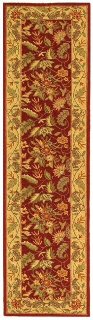 Safavieh Handmade Paradise Red Wool Runner (2'6 x 8')