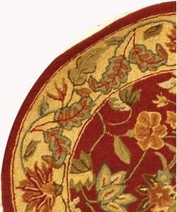 Safavieh Handmade Paradise Red Wool Rug (3' Round) - Thumbnail 2
