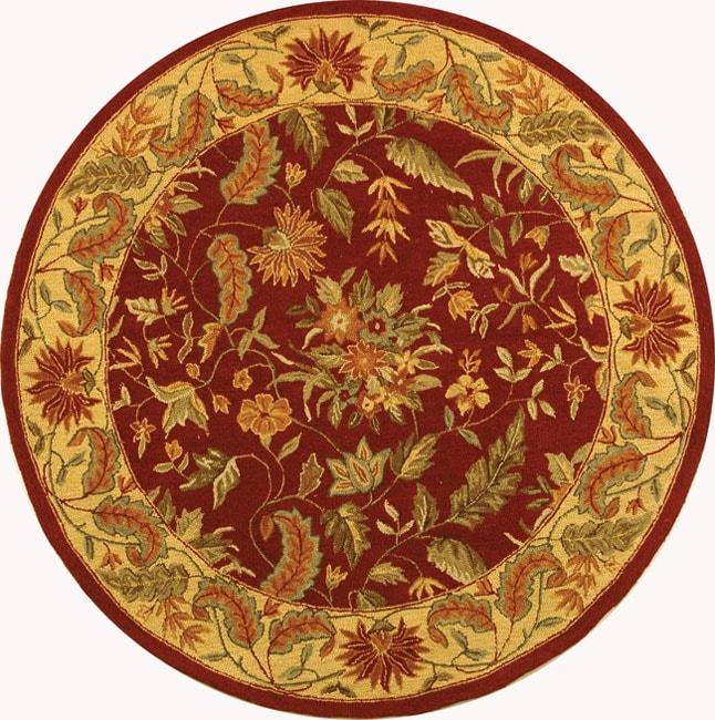 Safavieh Handmade Paradise Red Wool Rug (5'6 Round)