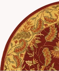 Safavieh Handmade Paradise Red Wool Rug (8' Round) - Thumbnail 2