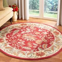 Safavieh Handmade Paradise Red Wool Rug - 8' x 8' Round
