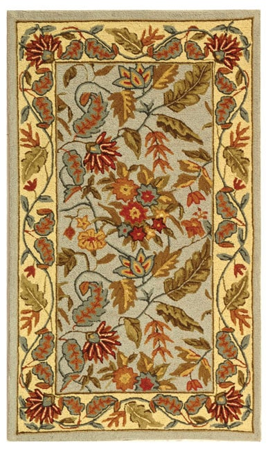 Safavieh Handmade Paradise Light Blue Wool Rug (2'9 x 4'9)