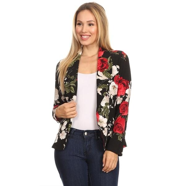 Women's Casual Pattern Print Blazer Jacket. Opens flyout.