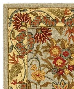 Safavieh Handmade Paradise Light Blue Wool Runner (2'6 x 6') - Thumbnail 2