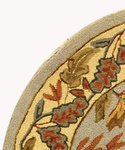 Safavieh Handmade Paradise Light Blue Wool Rug (4' Round) - Thumbnail 2