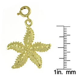 14k Yellow Gold Nautical Starfish Charm