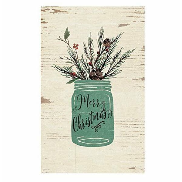 Merry Christmas Holly Mason Jar Wood Sign 10.5 x 17 827e2674 c542 44d1 ae01 a1baaf72274f 600