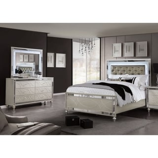 Silver Orchid Briscoe Silver 2-piece Bed and Dresser Set