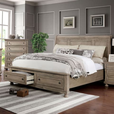 Furniture of America Nahkohe Grey 2-piece Bed and Chest Set