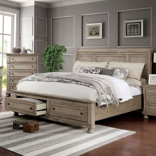 Furniture of America Sese Transitional Grey 2-piece Bed and Chest Set