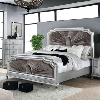 Link to Furniture of America Maza Silver 2-piece Bed and Chest Set Similar Items in Bedroom Furniture