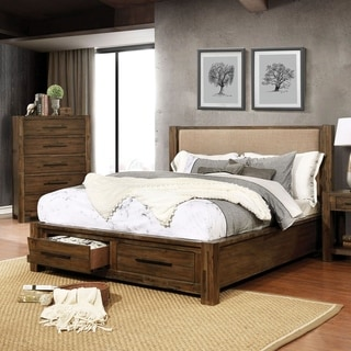 Furniture of America Pore Walnut 2-piece Bed and Chest Set