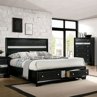 Silver Orchid Manzini Black 2-piece Bed and Chest Set
