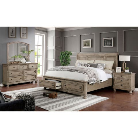 Carbon Loft Nahkohe 3-piece Bed with Nightstand and Dresser Set