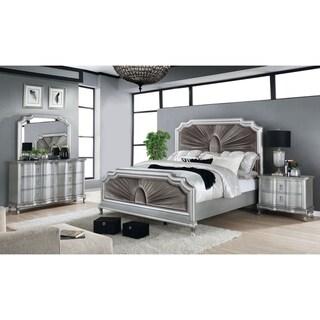 Furniture of America Maza 3-piece Bed w/ Nightstand and Dresser Set