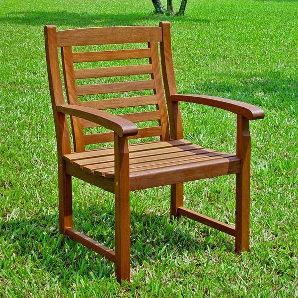 International Caravan Trinidad Acacia Hardwood Chairs (Set of 2)