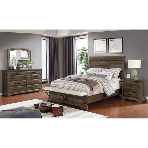 Shop Furniture Of America Kete 3 Piece Bed With Nightstand And Dresser Set On Sale Overstock 30374792